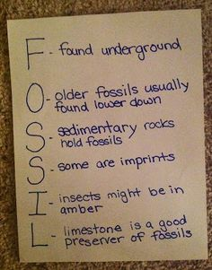 Science Vocabulary Strategy: Acrostic