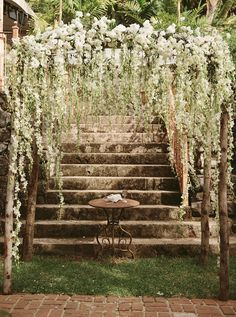 Rustic wedding arch This looks like it would be easy to make...