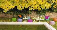 NIDO Garden pouf by Paola Lenti design Patricia Urquiola, Eliana Gerotto