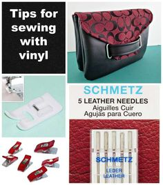 Dicas para costurar vinil - Do you need special equipment or can you get by with what you have? Check out these tips for sewing with vinyl to get the very best results more easily. Sewing Basics, Sewing Hacks, Sewing Tutorials, Sewing Tips, Sewing Ideas, Bag Tutorials, Video Tutorials, Sewing Crafts, Techniques Couture