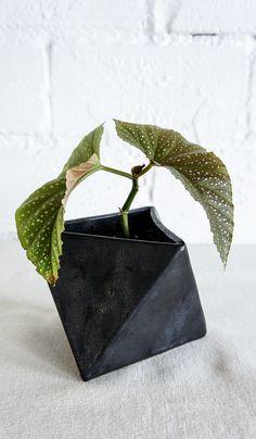 Eric Bonnin Black Geometric Planter