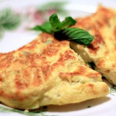 Omelette de queso y pimientos
