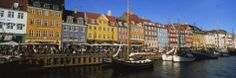 Buildings on the Waterfront, Nyhavn, Copenhagen, Denmark Photographic Print by Panoramic Images at AllPosters.com