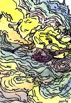 Aiguabarreig-99  aquarel·la i acrílic Dolors Buch Castañer