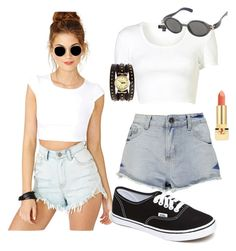 """""""sweet persuasion"""" by bricette-salcedo ❤ liked on Polyvore featuring Boohoo, Topshop, Yves Saint Laurent and Vans"""