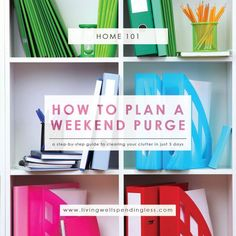 Weekend Cleaning   Weekend Purge   Home Cleaning   Cleaning Tips   Cleaning Hacks   Declutter Rules   Home Organization   Decluttering Tips & Ideas   Spring Cleaning   Spring Cleaning Tips