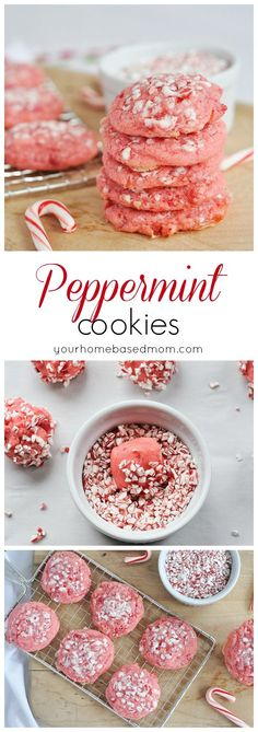 Peppermint Cookies are pretty and delicious!