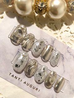 Silver Nails, White Nails, Glitter Nails, Garra, How To Do Nails, My Nails, Sharp Nails, Latest Nail Art, Bridal Nails