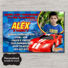 Nice Hot Wheels Birthday Invitations FREE Printable Invitation - Hot wheels birthday invitation how to make