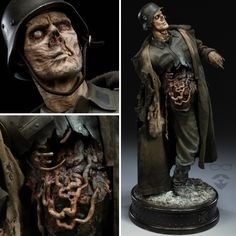 """365daysofhorror: """" Absolutely INSANE sculptures from Andy Bergholtz. He even has kits you can order to paint yourself. I really want one!! See more here. """" -Rockabilly-Psychobilly-Vintage-Horror-"""