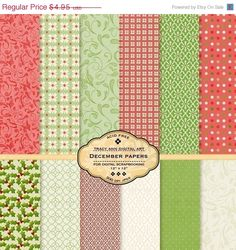 SALE 40 off  Digital Paper pack for invites by TracyAnnDigitalArt, $2.97