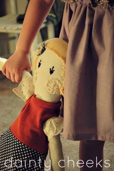 Modern Heirloom doll. $55.00, via Etsy.