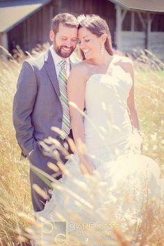 Camano Island, WA Wedding | Clane Gessel Photography #Wedding #Photography #Field #Barn #Pose