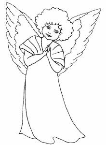 Free Coloring Pages Angels
