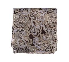 DESIGNER PAISLEY POCKET SQUARES - CHOCOLATE BROWN | Ties, Bow Ties, and Pocket Squares | The Tie Bar