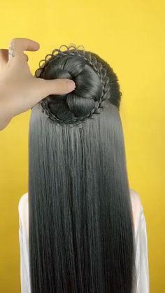 Hair Tutorials For Medium Hair, Cute Hairstyles For Medium Hair, Hairstyles Haircuts, Medium Hair Styles, Long Hair Styles, Black Hair Video, Long Hair Video, Curls For Long Hair, Short Hair Updo