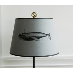 Gray Linen Empire Humpback Whale Lamp Shade (£60) found on Polyvore