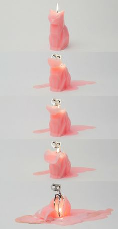 Cat Skeleton Candles