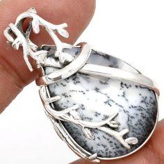 Dendrite-Opal-925-Sterling-Silver-Pendant-Jewelry-SP138821