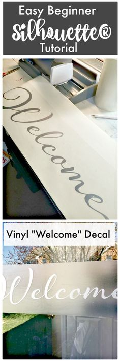 How to use your Silhouette - a Beginners Silhouette Tutorial and Craft idea welcome sign!