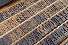 Letterpress moveable type