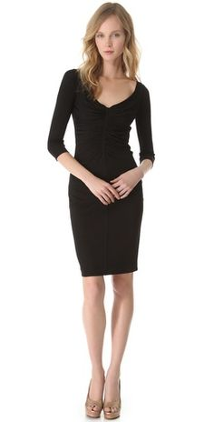 Dress - Versace 3/4 Sleeve Ruched Dress $1525.00