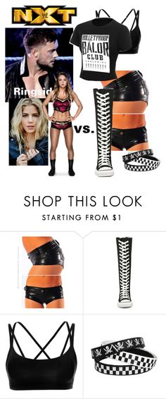 """NXT: Emma vs. Crystal"" by godslastgift ❤ liked on Polyvore featuring Converse, La Isla, WWE, Diva, NXT, match and finnbalor"