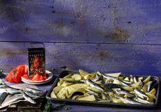 Σαρδέλες στο φούρνο της Αργυρώς   Συνταγή   Argiro.gr Mediterranean Recipes, Drink, Beverage, Drinking