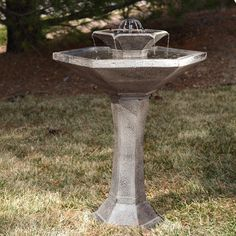 2 Level Bird Bath: Smart Solar Alfresco 2-Tier Solar Bird Bath Fountain - 34235M01-C