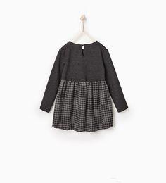 ZARA - DZIECI - Sukienka z łączonych tkanin