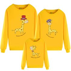 2016 spring  print deer Fawn Hoodies Family Matching Outfits mother son daughter father clothes