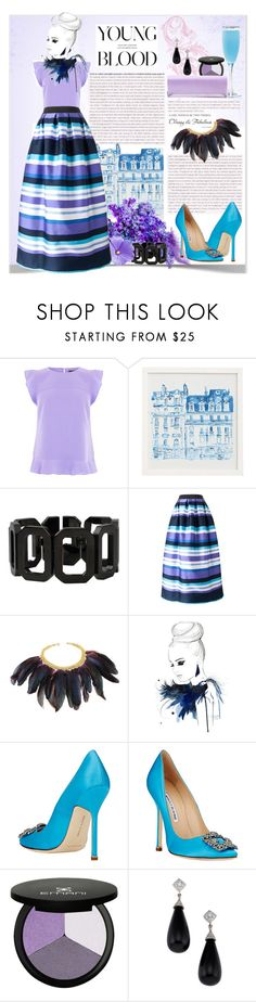 """""""Young Blood"""" by petri5 ❤ liked on Polyvore featuring Oasis, Pottery Barn, Rebecca, P.A.R.O.S.H., Manolo Blahnik and Chanel"""