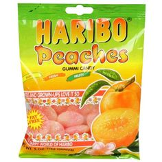 Haribo Gummi Candy Peaches, 5-ounces (Pack of12) ** Hurry! Check out this great item : Fresh Groceries