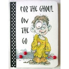 Little zombie boy notebook, Mini note book, Party gifts, Gift favors,... ($4.50) ❤ liked on Polyvore featuring home and home decor