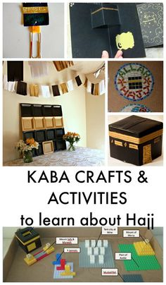 Eid al Adha and Hajj crafts for kids. Learn about Hajj, and the kaba, and make a sheep craft for Eid Eid Crafts, Ramadan Crafts, Crafts For Kids, Ramadan Activities, Craft Activities, Educational Activities, Aid Adha, Fest Des Fastenbrechens, Eid Al Adha