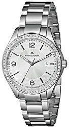 Maurice Lacroix Women's MI1014-SD502-130 Miros Diamond-Accented Stainless Steel Bracelet Watch