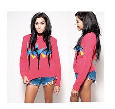 Colorblock Vintage 80s Sweater $32.00
