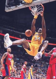 "Shaquille O'Neal is born Mar. 1972 and his Secret Language name is ""The Elect. Nba Basketball, Girls Basketball Shoes, Nba Sports, Basketball Legends, Basketball History, Sports News, Nba Pictures, Basketball Pictures, Shaquille O'neal"