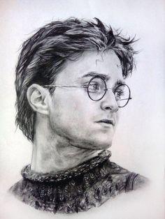 Harry Potter Portraits, Harry Potter Artwork, Harry Potter Drawings, Harry Potter Images, Harry Potter Film, Harry Potter Wallpaper, Harry Potter Characters, Portrait Sketches, Art Sketches