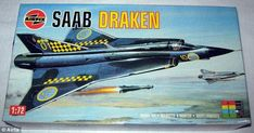 Compared: A slightly adapted version of the Saad Draken artwork can be seen on the actual Airfix box