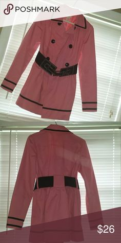 Pea Style Coat With Belt. Excellent condition. Light weight cotton blend. Candie's Jackets & Coats Pea Coats