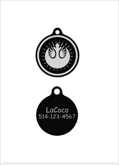 Star War New Jedi Order/Quiet dog tag Plastic pet by LaCoco725
