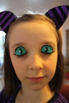 face painting cats kids | in all honesty: face painting the Cheshire Cat