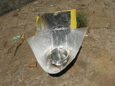 In continuation with my story of Home-made solar funnel cooker, I would like to add my further experience. The cooking pot which is kept at the bottom