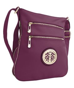 This MKF Collection | Purple Roneeda Crossbody Bag by MKF Collection is perfect! #zulilyfinds