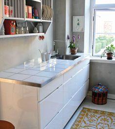 Cool og praktisk køkkenbord