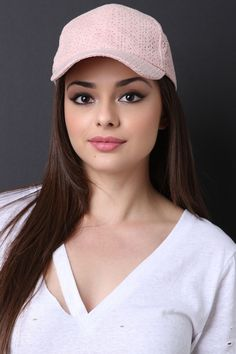 This cute baseball cap features a vegan suede fabrication, curved brim, floral cutout design, and an adjustable velcro strap at back.Measurement Bill measures a Most Beautiful Faces, Beautiful Celebrities, Beautiful Eyes, Beautiful Women Over 40, Girl Face, Woman Face, Beauty Full Girl, Beauty Women, Brunette Beauty