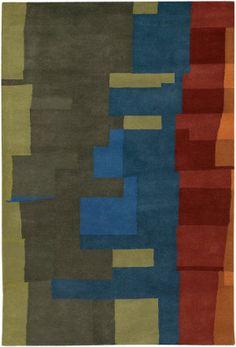 Chandra Kathryn Doherty Kat2002 Green - Grey - Red - Blue - Orange Area Rug