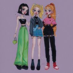 Art, blue, and dreamy image Powerpuff Girls Halloween Costume, Halloween Outfits, Costume Halloween, Powerpuff Girls Wallpaper, Cartoon Wallpaper, Powerpuff Girls Makeup, Girl Cartoon, Cartoon Art, Buttercup Powerpuff Girl