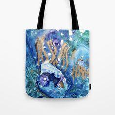 Golden Jellyfish Tote Bag by anoellejay | Society6 @anoellejay @society6 Stocking stuffers | Holiday gifting